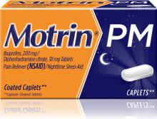 MOTRIN® PM Caplets (comprimidos)