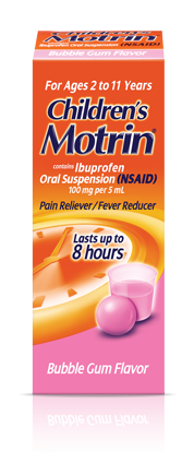 Fever Reducer Amp Pain Relief With Children S Motrin 174