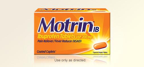 Motrin box
